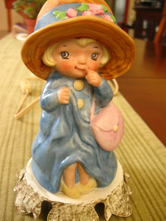vintage little girl night light