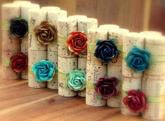 Woodland Twilight Place Card Holders - Vineyard Collection Set of 10, Repurposed Wine Corks for Wedding Re