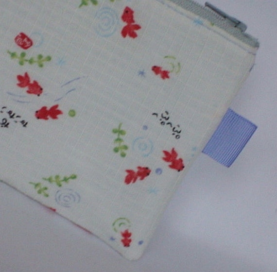 Dainty Koi Fish Zippered Pouch