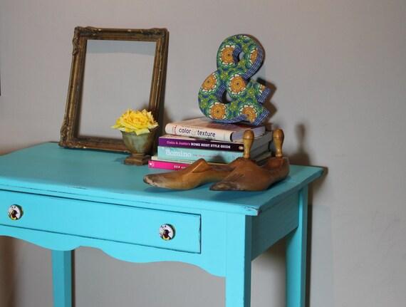 Little Turquoise Desk
