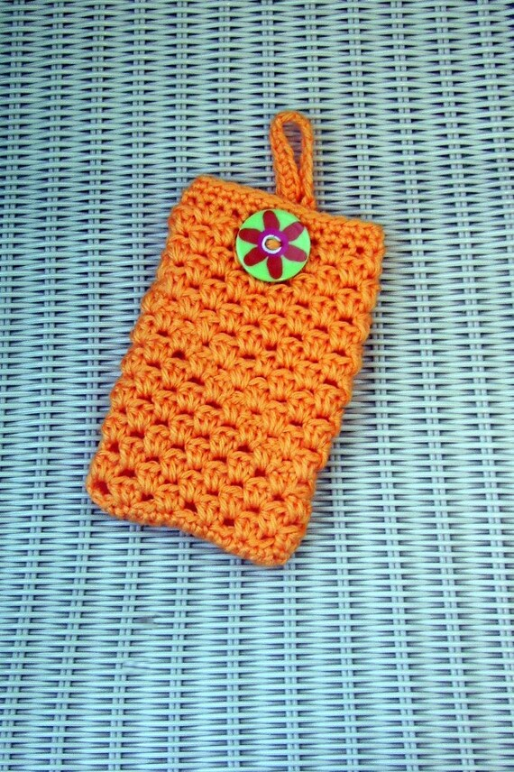 Crocheted Pouch Camera, MP3, Smart Phone