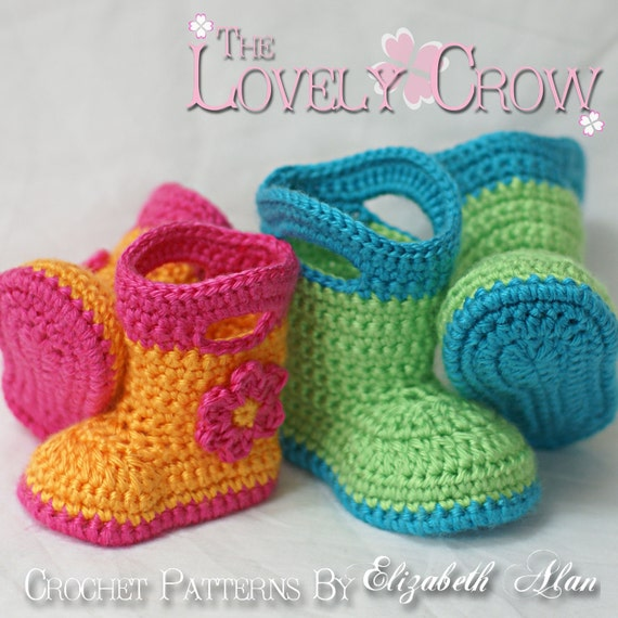 Baby Crochet Pattern Baby  for Baby Goshalosh Boots -  4 sizes - Newborn to 12 months.