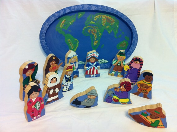 Handmade Wooden Puzzle - Children Around the World
