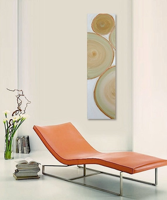 MAMACiTA original abstract modern painting - gallery fine art - contemporary interior design - ooak home wall decor - tan green