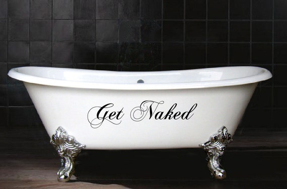 Get Naked Vinyl Decal