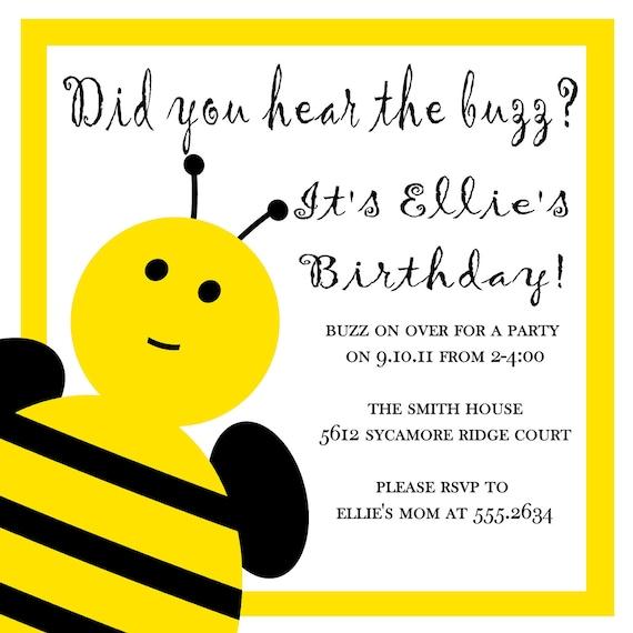 Have you heard the buzz bee invitation
