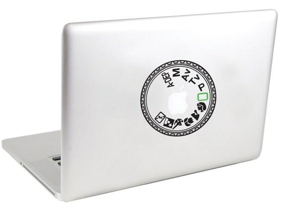 Canon Mode Dial Macbook Vinyl Decal