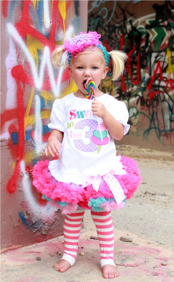Sweet To Be (1, 2, 3, 4, 5, or 6) Birthday Pettiskirt Set