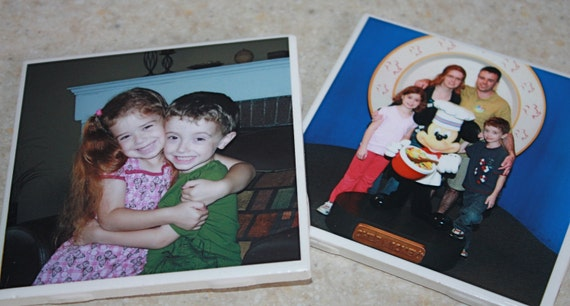 Personalized Photo Coaster Set (custom made with your photos)