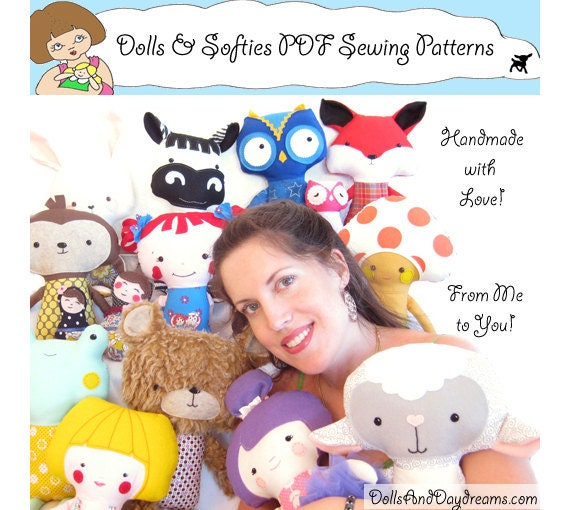Mermaid Doll PDF Sewing Pattern Softie