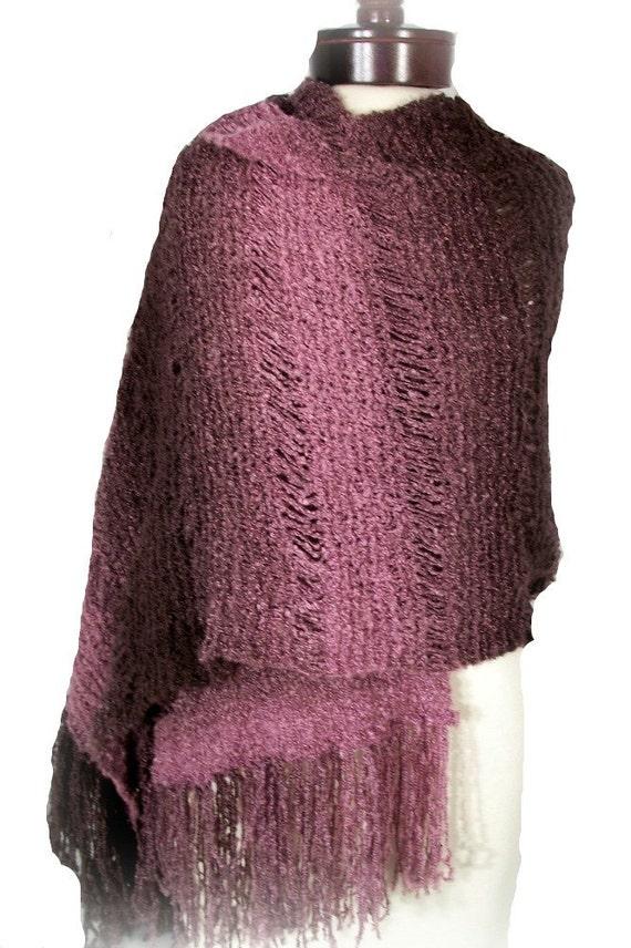 Amethyst Dreams Handmade Knit Shawl