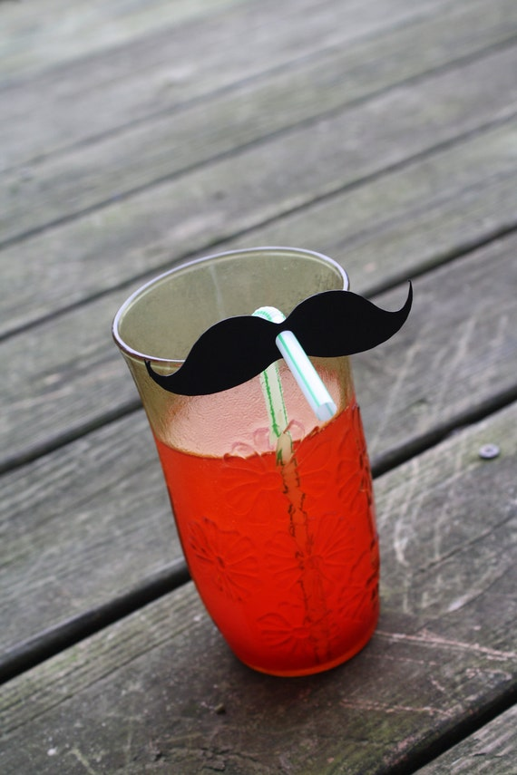 50 Party Straws With Mustache