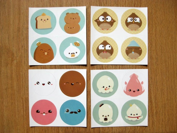 Cute Stickers (4 sheets)