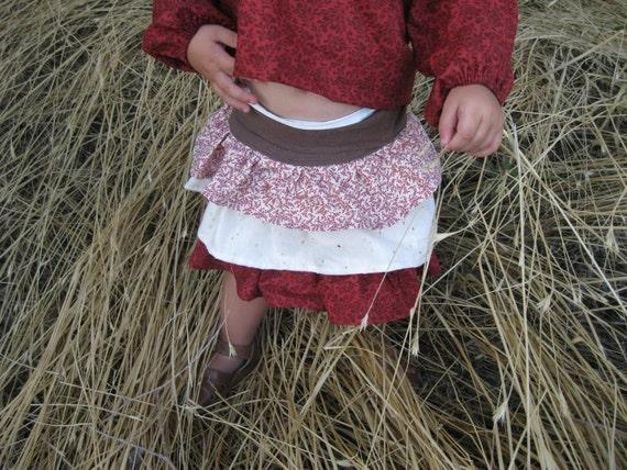 Adele 3 Tier Ruffle Skirt PDF Pattern & Tutorial in 11 Sizes
