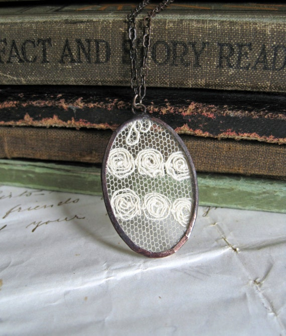 Circled Lace Necklace Vintage