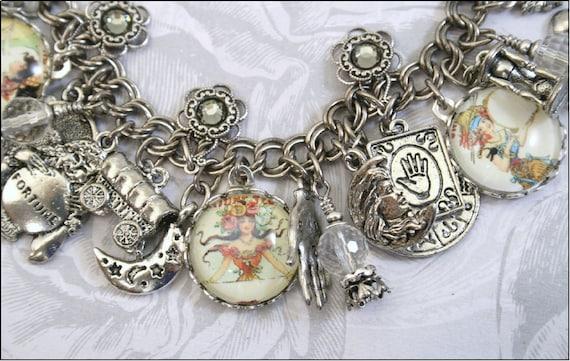 Gypsy Fortune Teller, Vintage Inspired Charm Bracelet