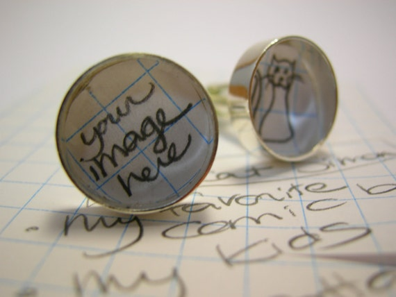 Custom Resin Cuff Links - Wearable works of art