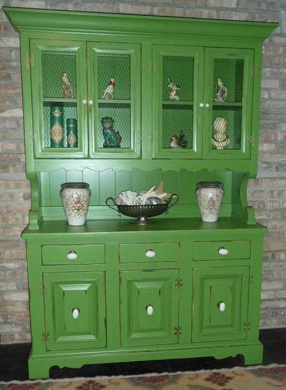 Vintage Green Hutch