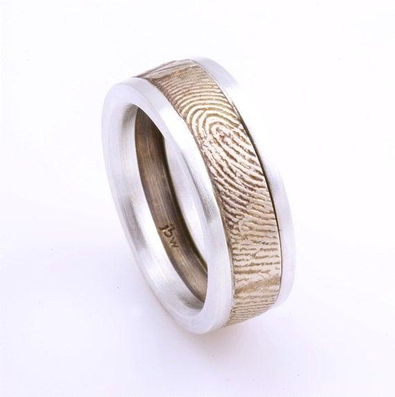 Fingerprint Wedding Rings on Fingerprint Wedding Bands  Talk About A Unique Idea