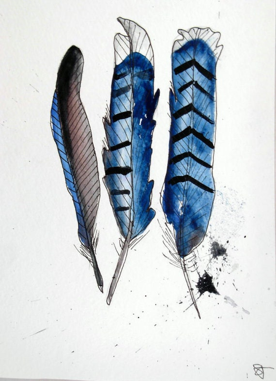 Three feathers are better than one- Print