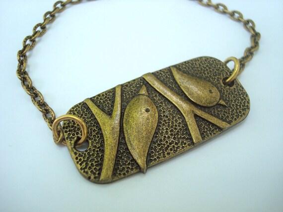 Bronze Bird Bracelet