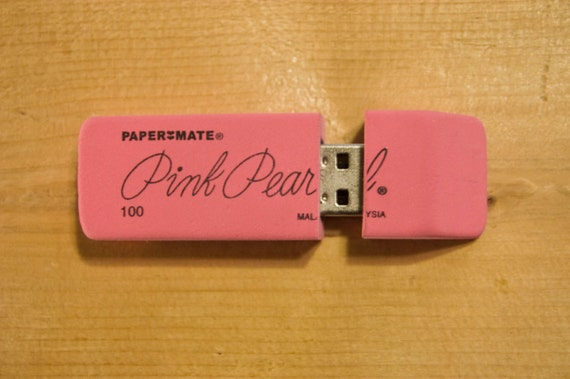 2GB Pink Pearl Eraser USB Flash Drive