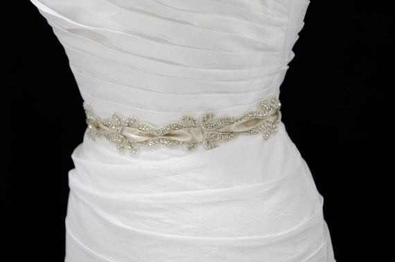 Crystal bridal sash-reserved for Ashley-no brooch