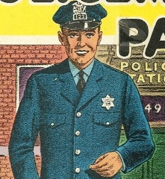 1952 Policeman Paul, Police, Police Man, Man in Uniform, Children's Book by Jene Barr, Illustrations by Chauncey Maltman