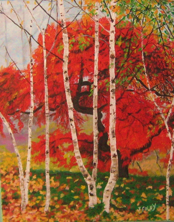 Original Autumn Oil painting