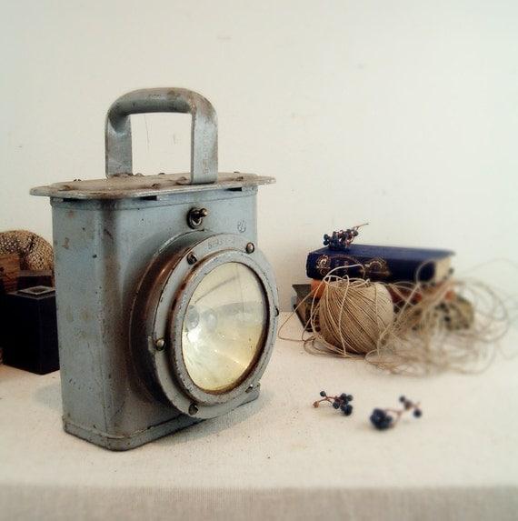 circa 1940 industrial lamp delta navy signal lantern