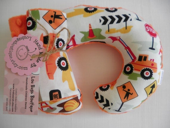 DIG IT Baby Toddler Childrens neck Travel Pillow with matching Car Seat Strap Covers