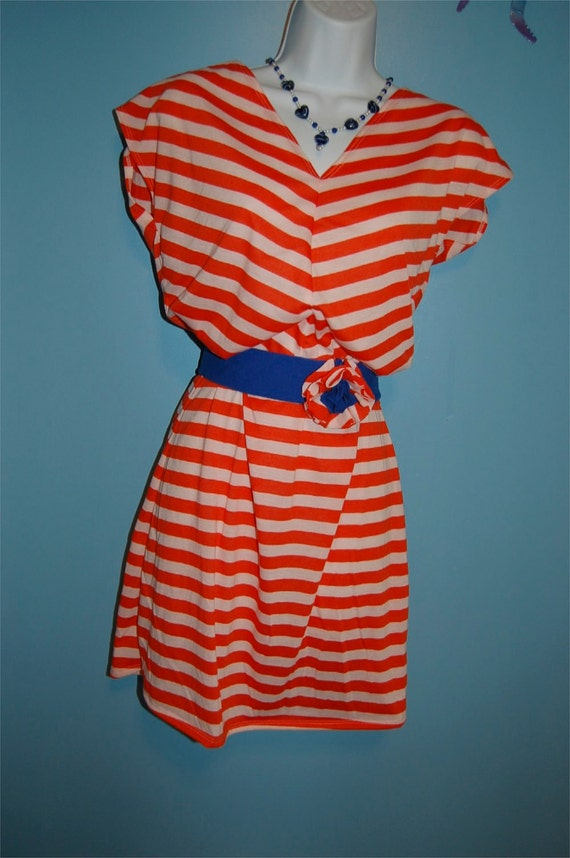 Private Listing for Jane - Orange Flower Dress and Orange Striped Dress