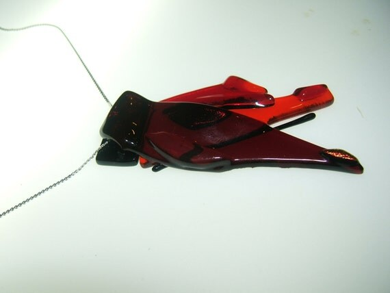 Pendant in red and orange