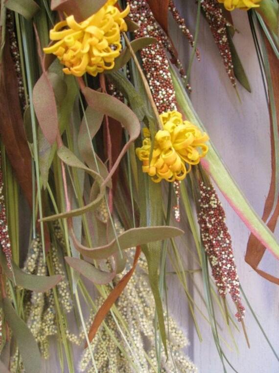 Падение Венок - Осень Сельский Добычу дверей - дверные украшения