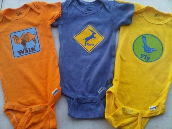 NEW - Phish baby onesie romper - Camel Walk, Run Like an Antelope, Fly Famous Mockingbird