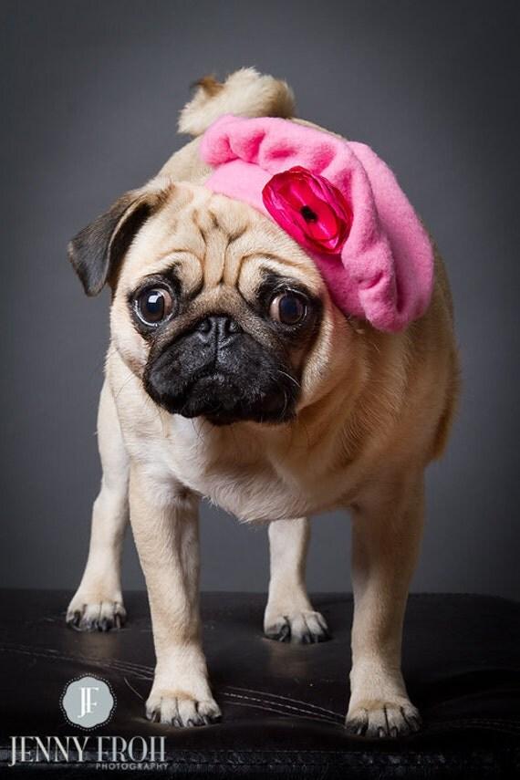 Драгоценные Розовый Hat берет с цветком Приукрашивание