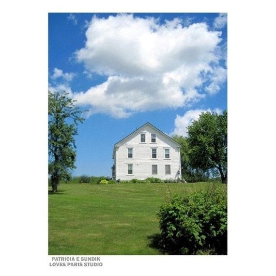 1700s Maine Farmhouse Photo, Gorham, Maine, 8 x 10,  Fine Art Photograph
