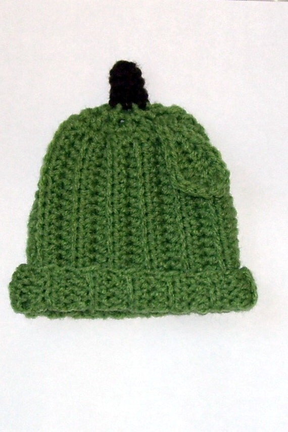 Green Apple Hat Newborn Crocheted