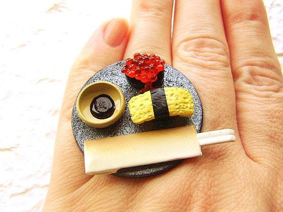 Суши кольцо Яйцо Тобико Суши