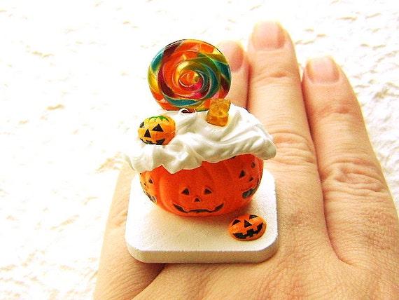 Kawaii продовольственной кольцо Halloween Candy Jack O фонарь тыквы