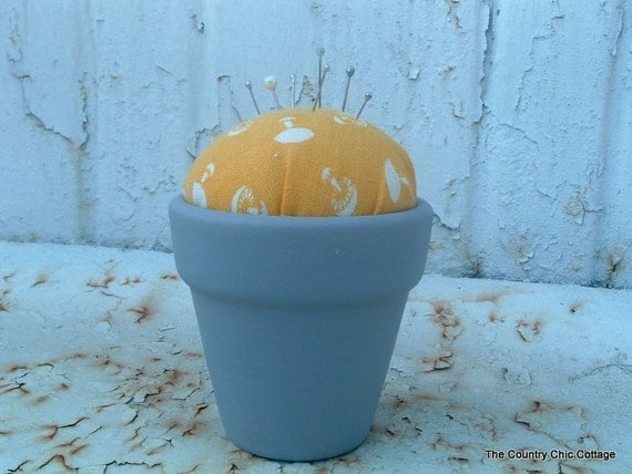 Pin Cushion from Mini Clay Pot