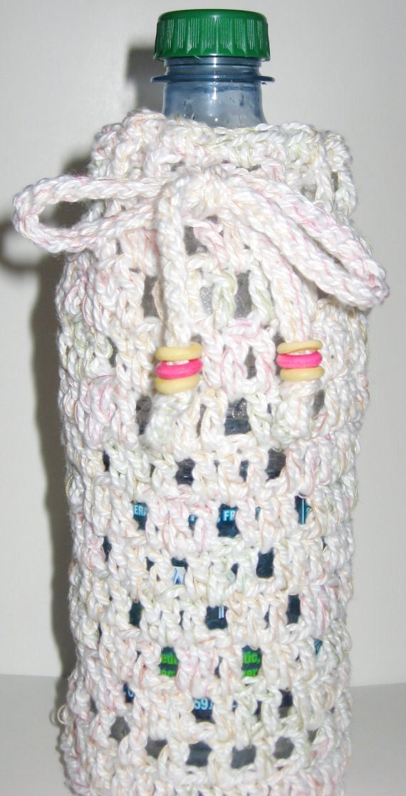 Crochet Water Bottle Cozy - DONATED by SallieBear