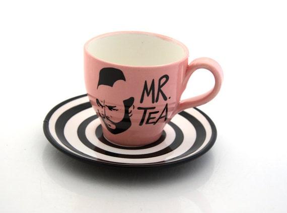 Mr. T Tea Pink Teacup and Saucer