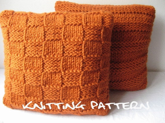 Pdf knitting pattern - super chunky cushion covers
