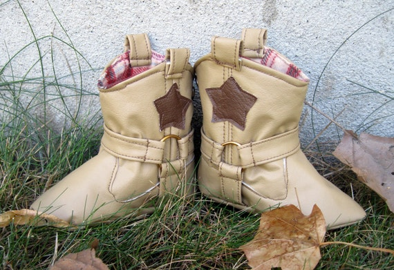 Cowboy Boots PDF Pattern and Tutorial in 4 Sizes