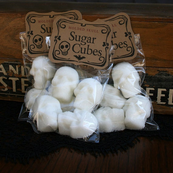 Sugar Cubes - 6 Bags of Four Skulls