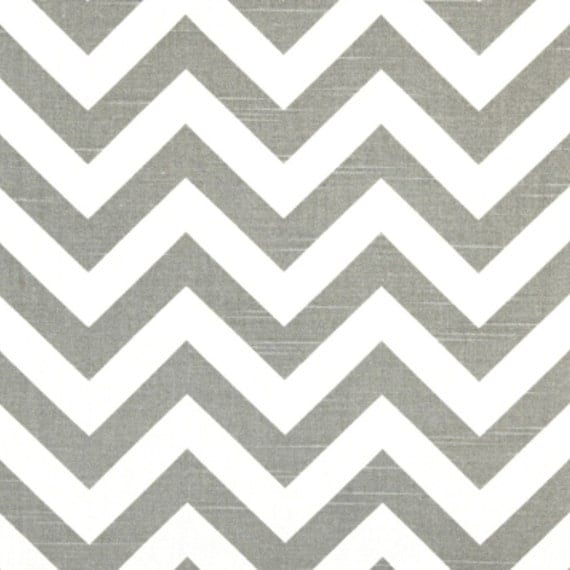 Premier Prints Fabric Zig Zag Chevron in Ash Gray and White Slub - Fat Quarter