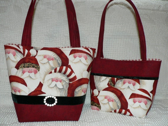 Christmas Purse - Hip Santa (Boutique Style)