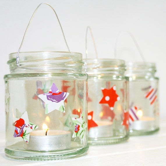 Christmas Star Lanterns - set of three