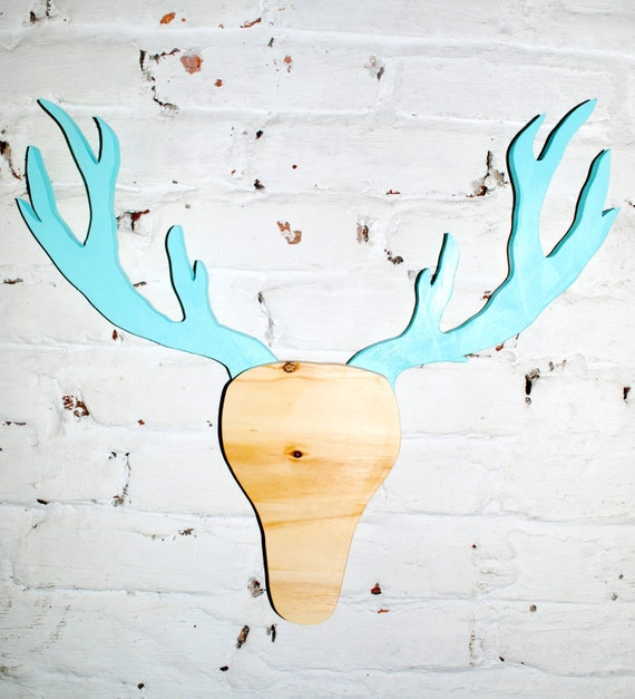 Deer Head Mount Recycled Wooden Cut Out